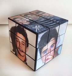 Magcon Boys handmade Rubik Cube of Nash Grier, Cameron Dallas,  Matthew Espinosa. And where can I get this exactly???