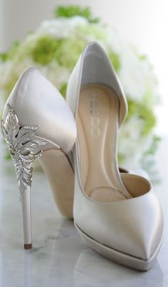 silver wedding decorations, These romantic heels are the perfect wedding day accessory, besides your ring of course
