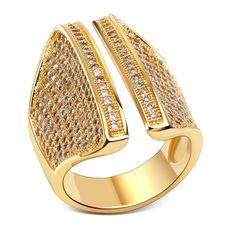Luxury Ring copper material with  & Cubic zircon setting love ring Free shipment  size 6, 7, 8, 9