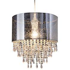 LAMPA wisząca CRYSTALLO 6048442 Nave abażurowa OPRAWA glamour ZWIS z kryształkami crystal chrom przezroczysty