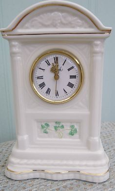 Details About Lovely Belleek Mantel Clock