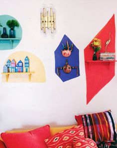 Bold and Bright Wall-art installation–Big reveal!