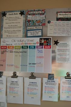 Ideas for the family command center and kids' chore charts...