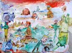 """Bart Johnson, Lonely Are the Brave, watercolor and ink on paper, 22"""" x 30"""", 2013"""