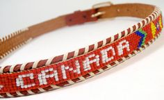 Vancouver, Canada [beaded leather belt]
