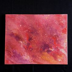 Original acrylic painting: 16x20 inches  100% unique liquid acrylic painting using red, pink, purple, and gold.  Paint extends over the edges of the painting, so a frame is not required. Painting has a gloss varnish coating to enhance color and protect the piece for years to come.  Sawtooth hanger will be included, but not attached so you can choose whether you want to hang the piece in portrait or landscape orientation.  Painting will be shipped via UPS and wrapped in foam sheets and bubble…