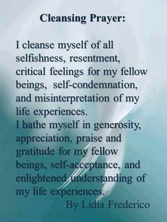 cleansing prayer by lidia frederico The Words, Was Ist Reiki, Smudging Prayer, Sage Smudging, Spiritual Cleansing, Sage Cleansing Prayer, Soul Cleansing, Spiritual Bath, Spiritual Life