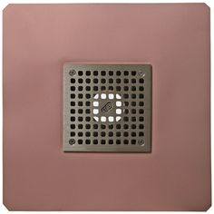 """Thunderbird Products deck drain with a 5"""" square bronze grate.   Looks great on any deck!"""