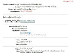 CashNhits Payment Proof $7,24  http://bestptcsites.biz