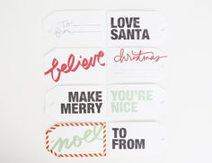 Celebrate December With Free Printable Gift Tags | Ali Edwards