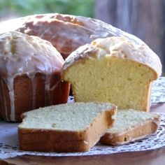 Two different Lemon Pound Cake recipes.