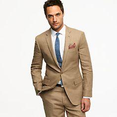 Linen khaki suits