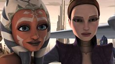 "It is so sweet how Padme is shown as Ahsoka's mother figure. And since Padme and Anakin are married, Ahsoka would be the ""daughter"" of their little family! Because of his experience with Ahsoka, I think that if Anakin hadn't become evil, he would've made a good father."