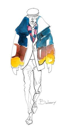 Personalized Photo Charms Compatible with Pandora Bracelets. Burberry - fashion illustration men