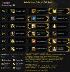 Retribution paladin build for Mists of #Pandaria. More details here: http://gotwarcraft.com/retribution-paladin/