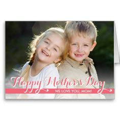 Simply Sweet Mothers Day Photo Card #mothersday