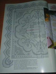 Crochet Lace Edging, Crochet Borders, Crochet Doilies, Knit Crochet, Handmade Crafts, Diy And Crafts, Stitch Patterns, Crochet Patterns, Filet Crochet Charts