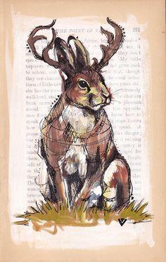Maybe I'll turn my rabbit tattoo into a jackalope.  ?!?!