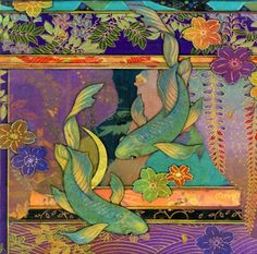 If koi were chameleons, would they be green? Green Koi is a 16 mural of 8 ceramic tiles. Mounted, framed and ready to hang. Green Koi is also. Tile Murals, Art Tiles, Carpe Koi, Art Textile, Pottery Art, Pottery Designs, Ceramic Pottery, Fish Art, Japanese Art