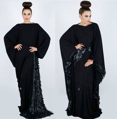 All Womens Talk: Stylish Khaleeji Abayas Dress for Arab Women Fashion 2013 Only Fashion, Work Fashion, Modest Fashion, Fashion Outfits, Womens Fashion, New Abaya Design, Abaya Designs, Middle Eastern Fashion, Arab Women