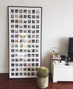 DIY Instax Polaroid Framed Collage - Instax Camera - ideas of Instax Camera. - DIY Instax Polaroid Framed Collage – Instax Camera – ideas of Instax Camera. Trending Instax Ca - Polaroid Display, Polaroid Wall, Mini Polaroid, Polaroid Collage, Polaroid Pictures Display, Polaroid Cameras, Hanging Polaroids, Wall Collage, Polaroid Photos
