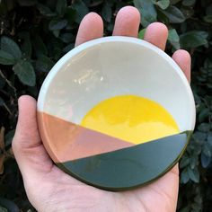 Hand formed and painted stoneware dish Measures approximately wide and tall Pottery Painting Ideas Easy, Pottery Painting Designs, Pottery Designs, Pottery Ideas, Ceramic Shop, Ceramic Clay, Ceramic Painting, Pottery Mugs, Ceramic Pottery