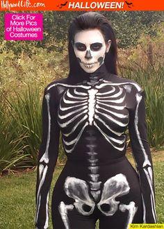 Kim Kardashian squelette Halloween #cosplay
