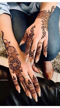 Simple Mehndi Designs Fingers, Modern Henna Designs, Indian Henna Designs, Floral Henna Designs, Latest Henna Designs, Back Hand Mehndi Designs, Mehndi Designs For Beginners, Mehndi Designs For Hands, Henna Tattoo Hand