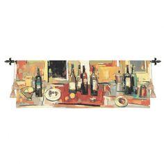 Fine Art Tapestries Vin Rouge Panel Tapestry - Jay Li - 2193-WH