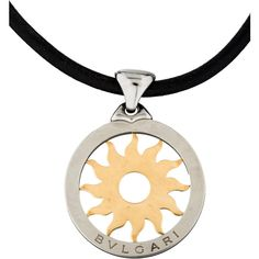Bvlgari Tondo Sun Pendant Necklace ($1,075) ❤ liked on Polyvore featuring jewelry, necklaces, silver, 18k necklace, bulgari necklace, 18k pendant, 18k jewelry and bulgari jewelry