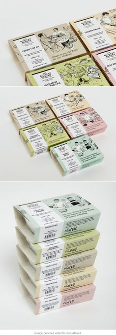 The illustrated butlers pantry. Who's hungry now packaging PD