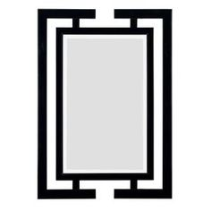 $187 41 in. x 29 in. Shinto Rectangle Framed Wall Mirror-60002 at The Home Depot