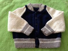 Baby Boys Size 69 months button down sweater by Cindyquiltsnknits, $75.00