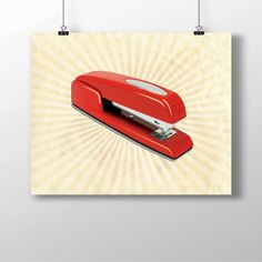 Office Space Red Swingline Stapler Funny Minimalist Photo Print Art IniTech…