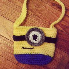 Ravelry: Mini Minion Inspired Bag pattern by Sarina Renee Logan