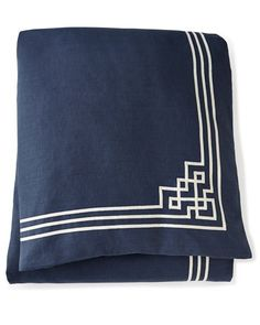 Shop Haveford Bleu Bedding & Bargello Sheets from Scalamandre Maison by Eastern Accents at Horchow, where you'll find new lower shipping on hundreds of home furnishings and gifts. Navy Bedding, Navy Pillows, Bed Duvet Covers, Pillow Shams, Indigo, Linen Cupboard, Asian Home Decor, Eastern Accents, Chinoiserie Chic