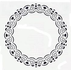 Circle Borders, Decorative Plates, Dots, Stitch, Diamond, Jewelry, Pintura, Stitches, Full Stop