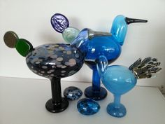 Oiva Toikka, Kiikkuri, my collection The Glass Menagerie, Stig Lindberg, Great Names, Glass Birds, Bird Art, Scandinavian Design, Finland, Glass Art, Collection