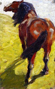 german-expressionists:  Franz Marc, Study of a Horse, 1908-1909