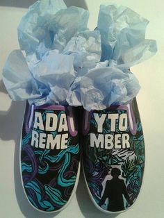 Custom Hand Painted A Day To Remember Shoes by InsidiousApparel, $70.00