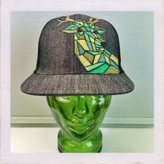 Groff Art  Moosaic Denim  Snapback Hat by GroffArt on Etsy, $49.99