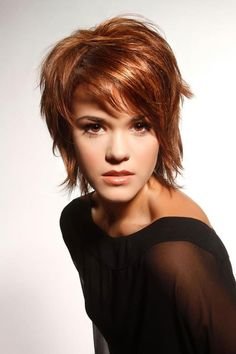 Cute short trendy hair