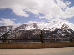 I snapped this picture while in the car up in the Rocky Mountains.