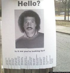 Classic Lionel Richie Flyer. And I really REALLY never liked the guy, but.. so funny!! www.playfulplans.com