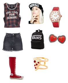"""""""Too cool for school outfit...."""" by haterz18 on Polyvore featuring Filles à papa, Topshop, Converse, Suicidal Tendencies, bürgi, Glenda López, Chanel, women's clothing, women's fashion and women"""
