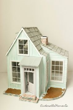 Next for Whispering Brook Cottage is a coat of paint. Beth requested an aqua color with the lavender door. It's a bit hard to capture the so...