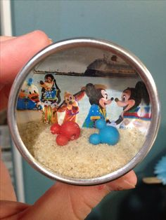 Fe fish extender gift - shadow box magnet made from wedding favor tin