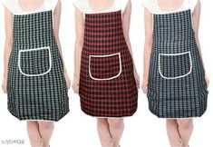 Aprons  Classy Stylish Cotton Apron ( Pack Of 3) Material:  Cotton Size: 50 in Length : Up To 27 in  Description: It Has 3 Pieces Of Aprons  Pattern: Checkered Sizes Available: Free Size *Proof of Safe Delivery! Click to know on Safety Standards of Delivery Partners- https://ltl.sh/y_nZrAV3  Catalog Rating: ★4 (7218)  Catalog Name: Free Mask Classy Stylish Cotton Apron Vol 4 CatalogID_489261 C129-SC1633 Code: 122-3514622-