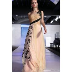 One Shoulder Ruched Flattering Sweetheart Appliques Elegant Long Champage Prom Dress - Only $243, #OneShoulder, #Ruched, #Flattering, #Sweetheart, #Appliques, #Elegant, #Long, #Champage, #PromDress, #Long, #EveningDress, #Dress