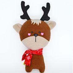 Cerf Doudou Peluche poupée kawaii en peluche animal peluche renne de Noël père Noël du pôle Nord à la main au Royaume-Uni plusheez